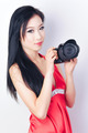 Gorgeous Asian Model with a Camera - PhotoDune Item for Sale