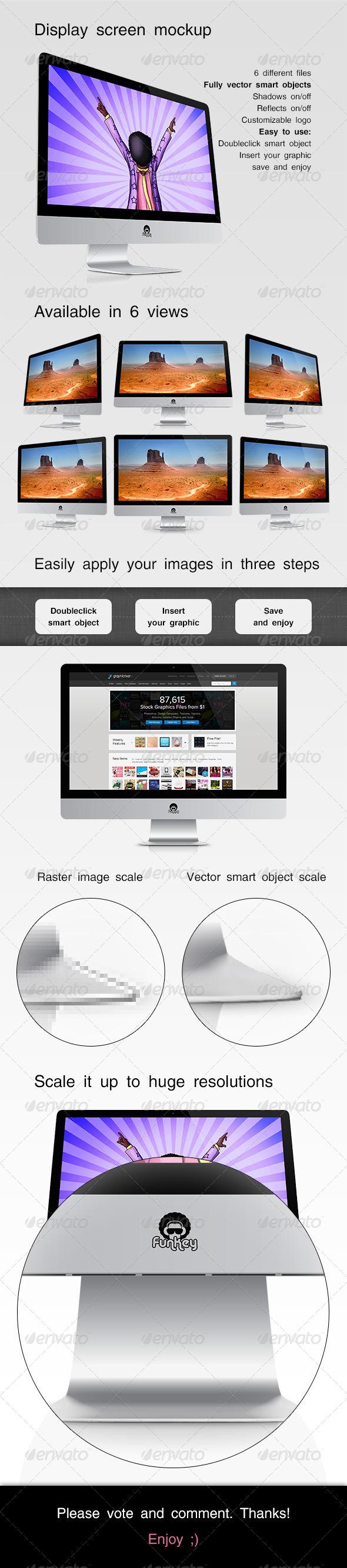 GraphicRiver Display Screen Mockup 3782785