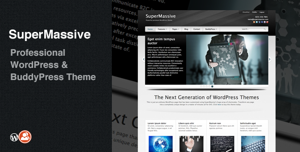 SuperMassive: Professional WordPress/BuddyPress Theme