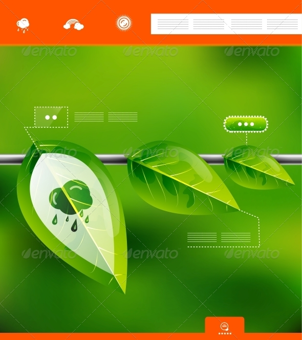 GraphicRiver Nature Leaves Infographic Banner 3867327