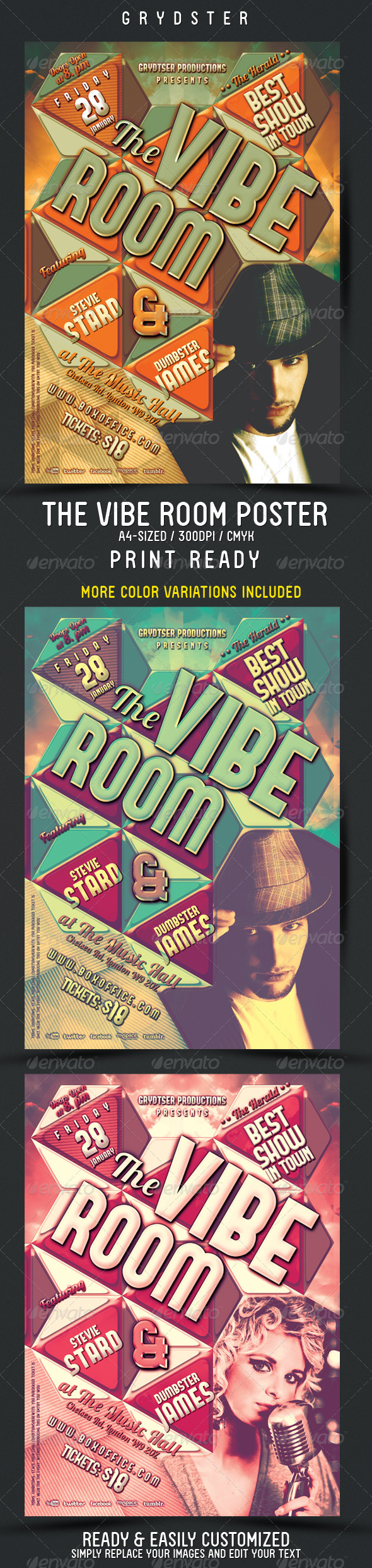 GraphicRiver The Vibe Room Flyer Poster 3776950