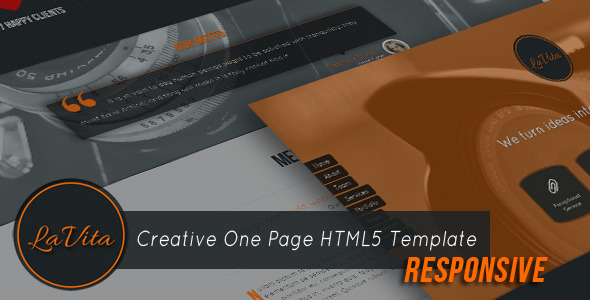 LaVita - Creative One Page HTML5 Template