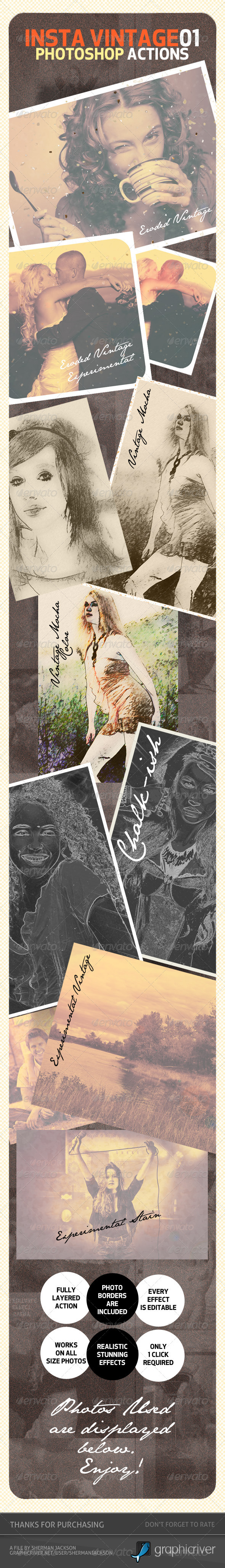 GraphicRiver INSTA Vintage Photoshop Actions ATN 3788016