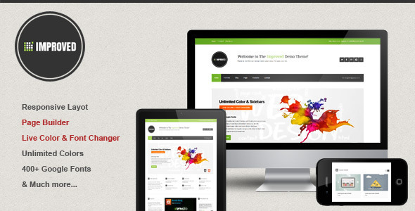 ThemeForest Improved Multipurpose Wordpress Theme 3869540