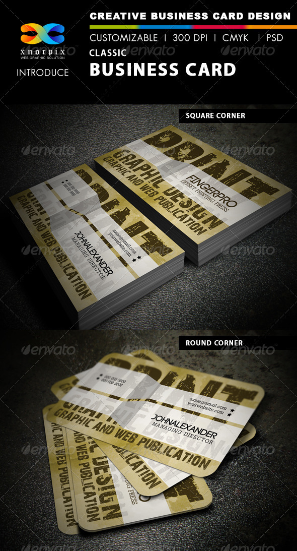 Classic Business Card - Grunge Business Cards