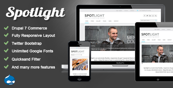 Spotlight - Responsive Drupal 7 eCommerce Theme