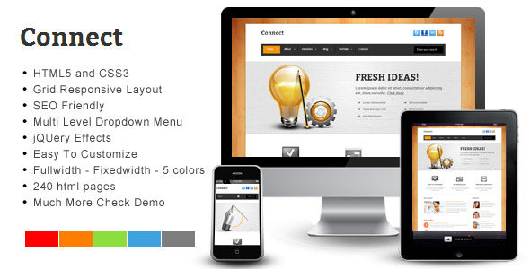 Connect – Responsive HTML Template