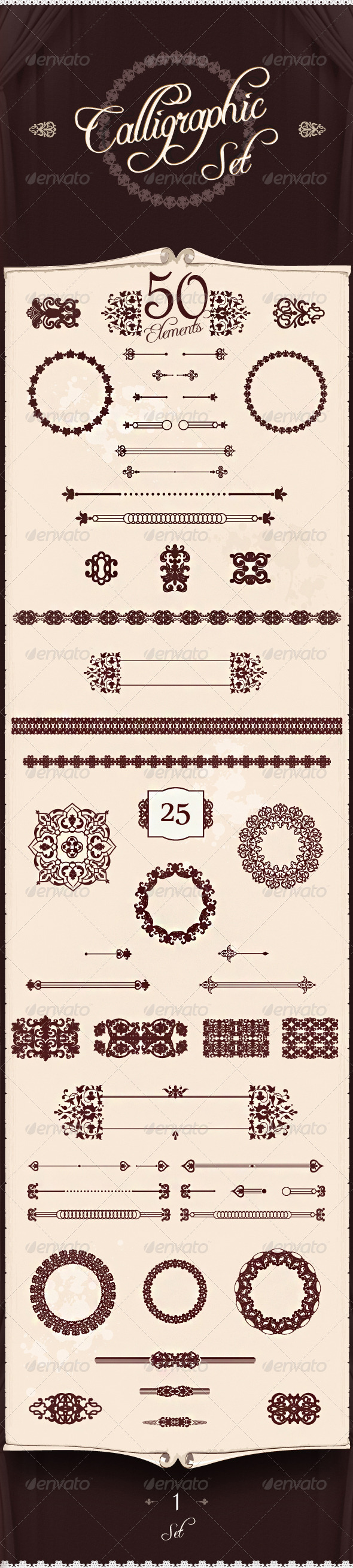 GraphicRiver Premium Calligraphic Design Set 3876456