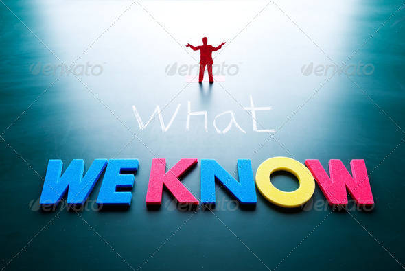 what we know concept - Stock Photo - Images