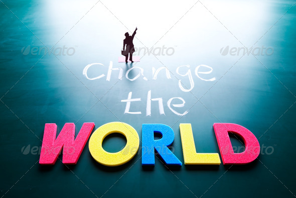 Change the world concept - Stock Photo - Images