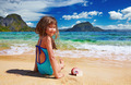 Small girl on the tropical beach - PhotoDune Item for Sale
