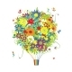 Floral Gift - Air Balloon with Flowers - GraphicRiver Item for Sale