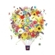 Summer Season Concept - Air Balloon with Flowers - GraphicRiver Item for Sale