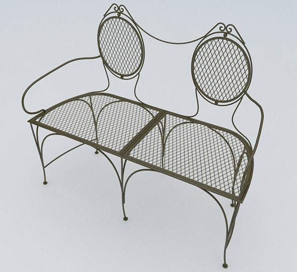 3DOcean Old Metal Armchair 3881996