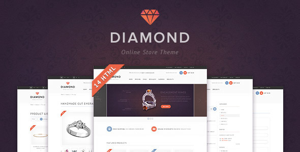 ThemeForest Diamond HTML5 & CSS3 store template 3882019