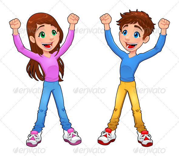 GraphicRiver Enthusiast boy and girl 3882557