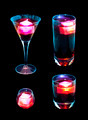 Individual Blue and Pink Mixed Drinks - PhotoDune Item for Sale