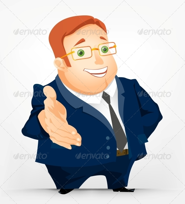 GraphicRiver Cheerful Chubby Man 3883218