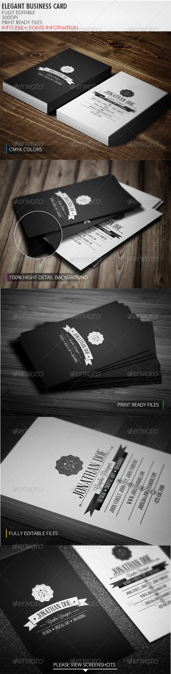 GraphicRiver Retro Business Card 3802688