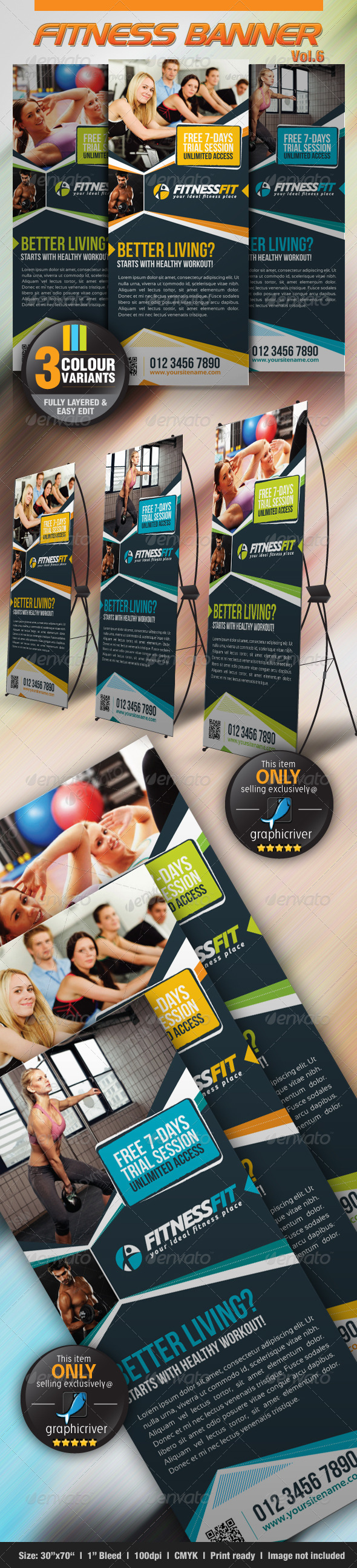 GraphicRiver Fitness Banner Vol.6 3884712
