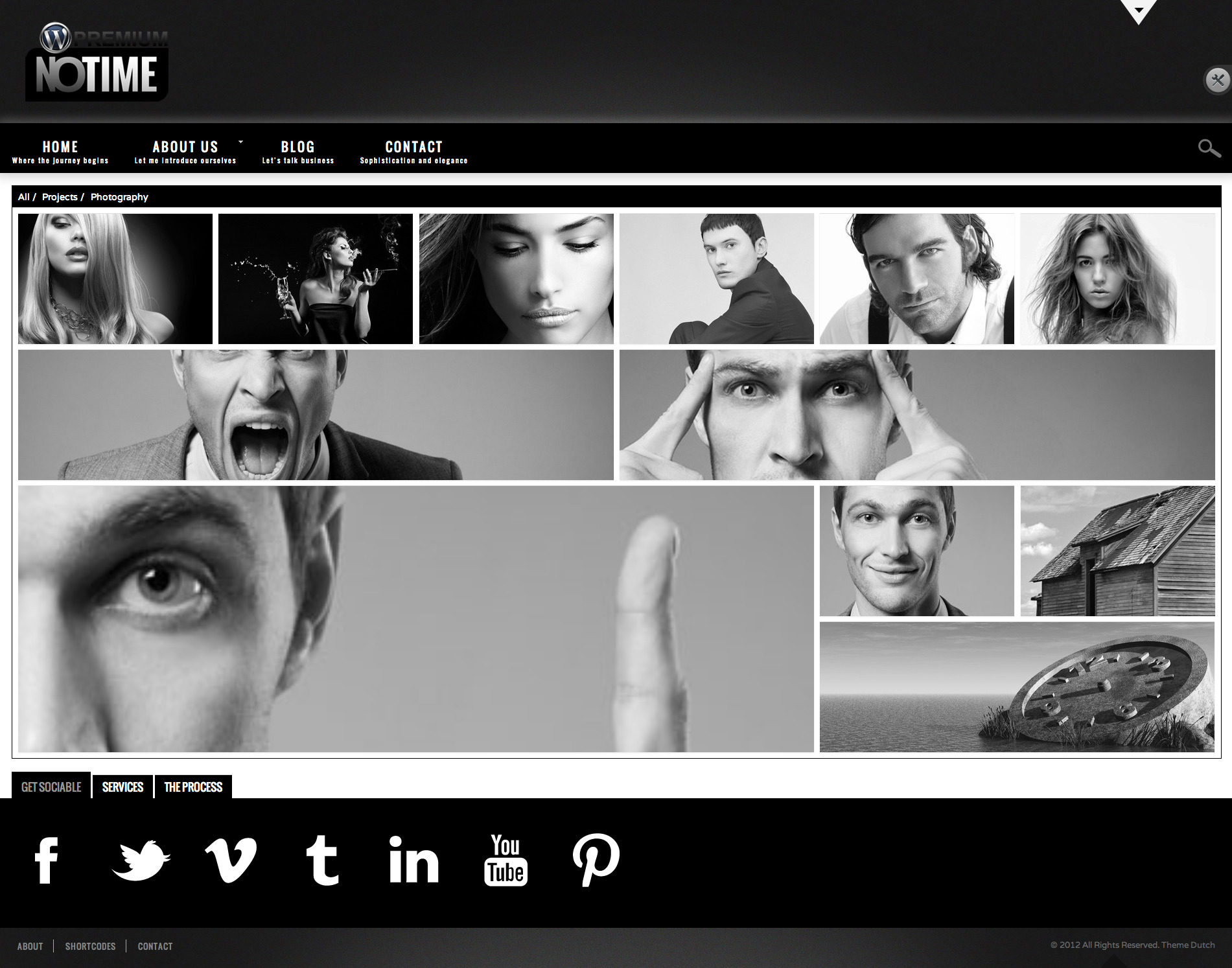 NOTIME - Business Portfolio WordPress Theme