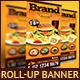 Restaurant | Cafe Roll Up Banner - GraphicRiver Item for Sale