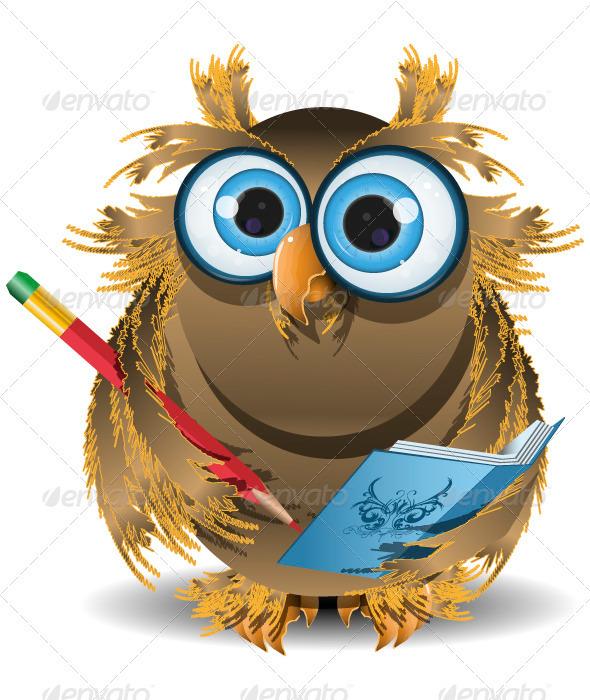 GraphicRiver owl secretary 3885255