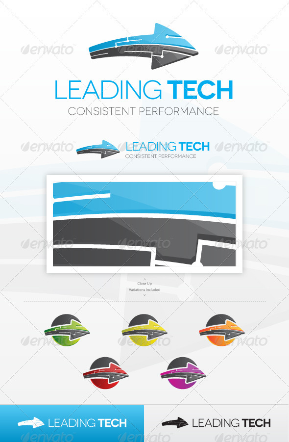 Leading Tech Logo - Vector Abstract