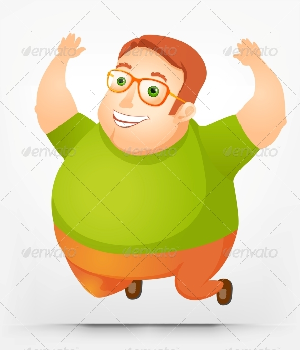 GraphicRiver Cheerful Chubby Man 3885585