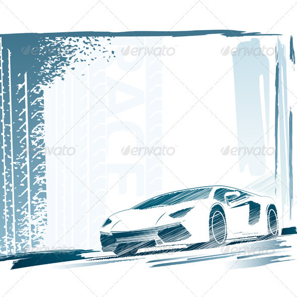 GraphicRiver Sport Car and Background 3886078