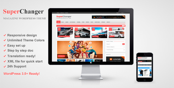 ThemeForest SuperChanger Responsive WordPress Theme 3841097