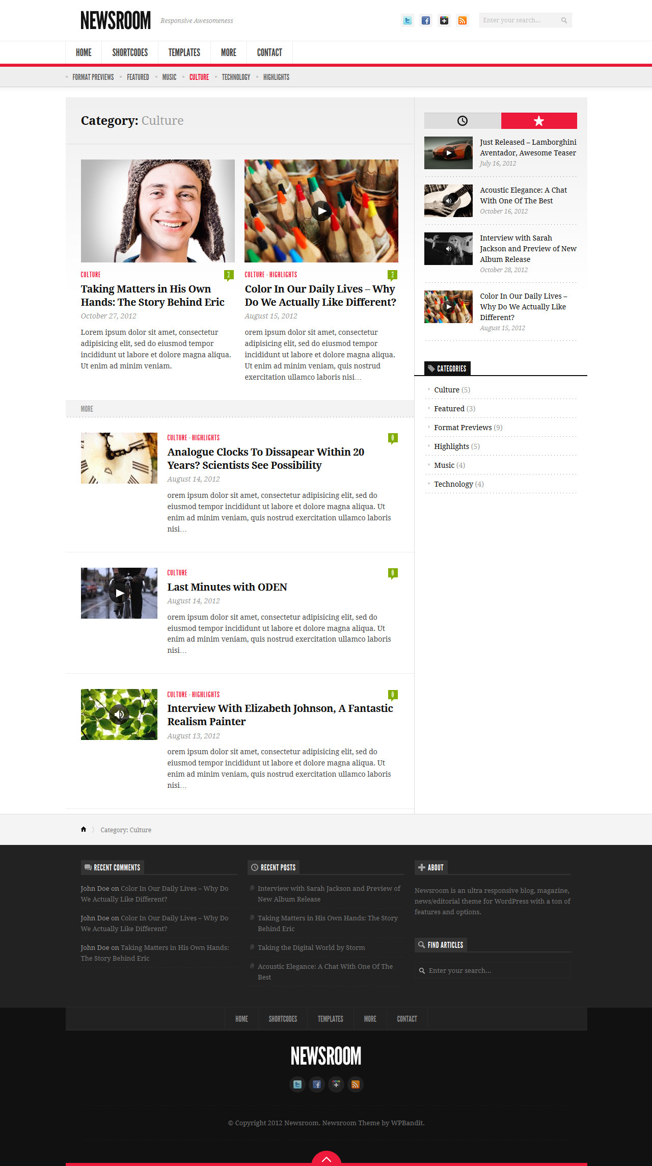 Newsroom - Responsive News & Magazine Theme