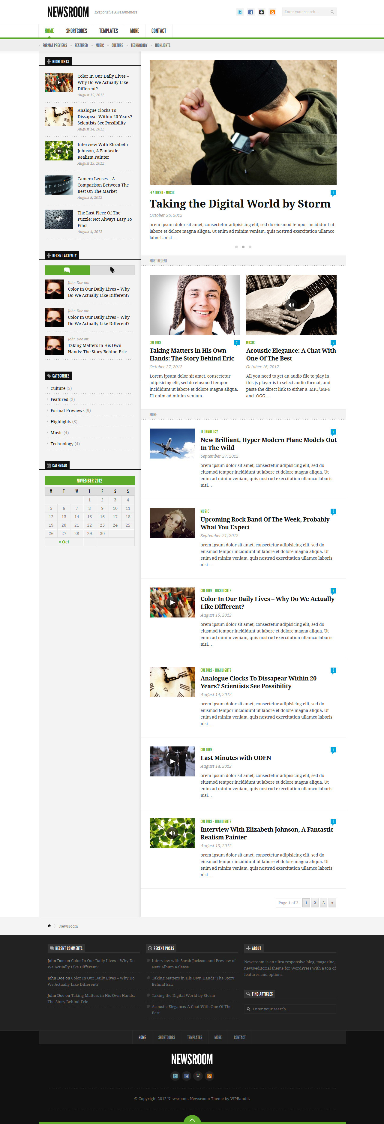 Newsroom - Responsive News &amp; Magazine Theme
