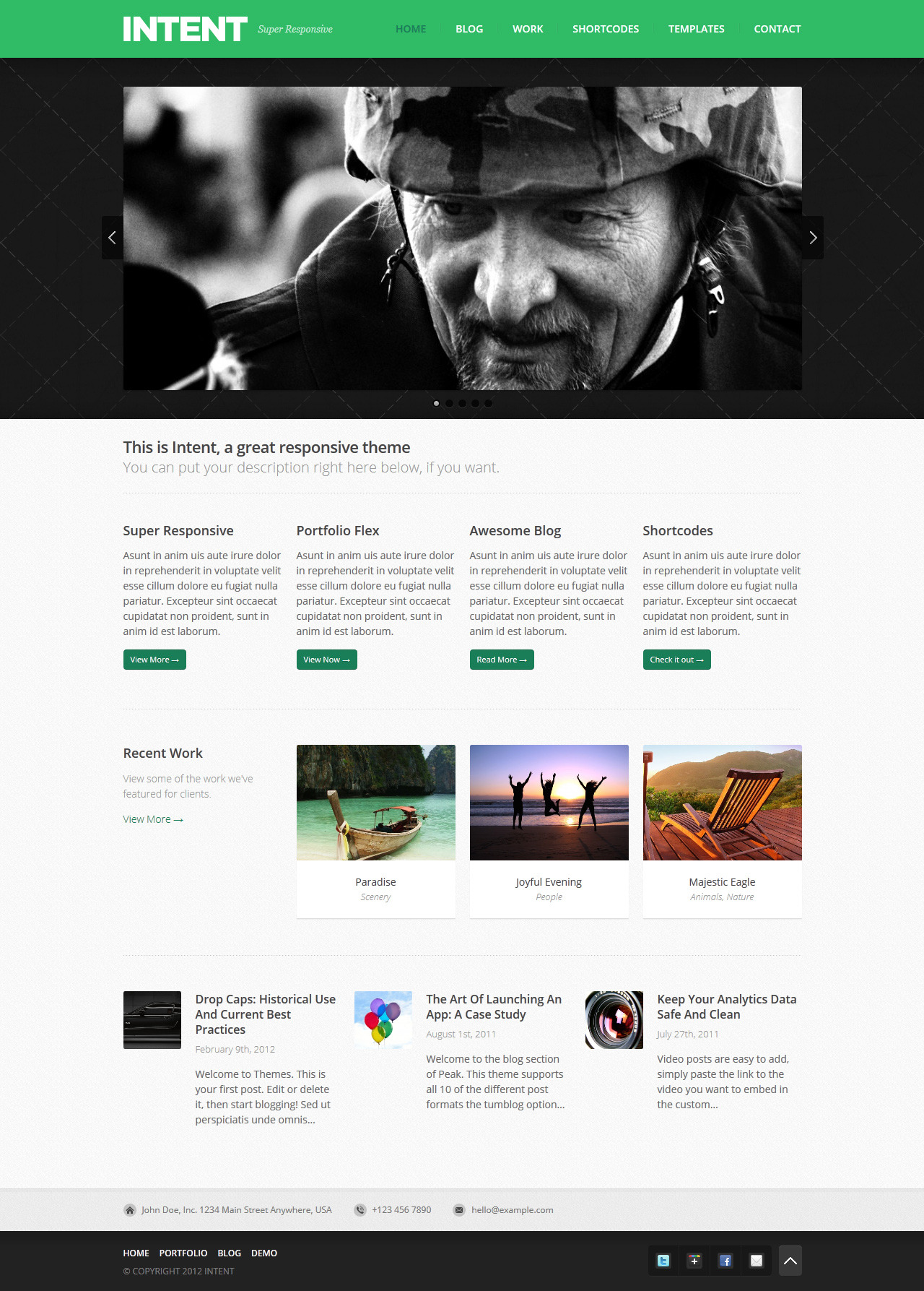 Intent - Business &amp; Portfolio WordPress Theme