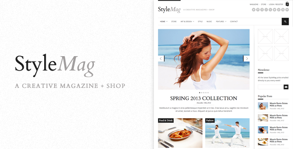 ThemeForest StyleMag Responsive Magazine Shop WP Theme 3886417