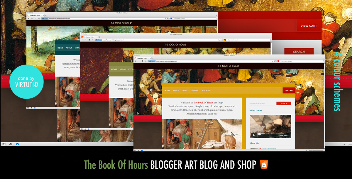 """The Book Of Hours""–Blog or Shop for Blogger"