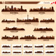 City Skyline Set - Canada Vector Silhouettes - GraphicRiver Item for Sale