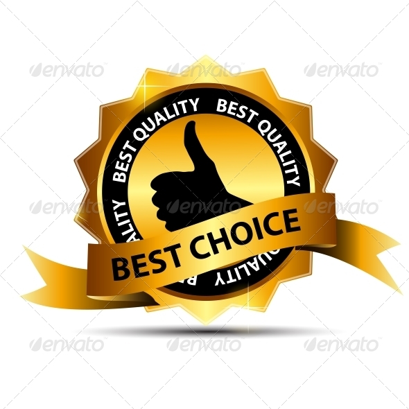 GraphicRiver Vector Best Choice Label with Gold Ribbon 3887316