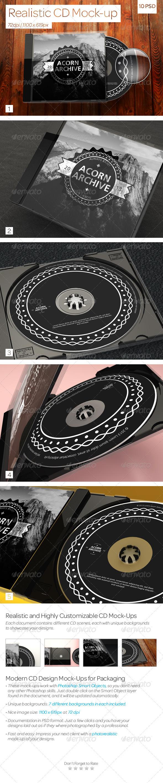 GraphicRiver Realistic CD Mock-Ups 3887394