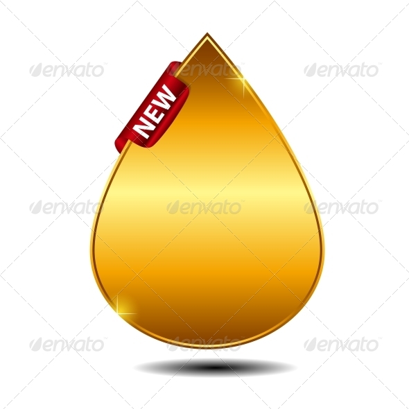 GraphicRiver Vector Label with Red Ribbon 3887398