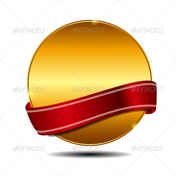 GraphicRiver Vector Label with Red Ribbon 3887402