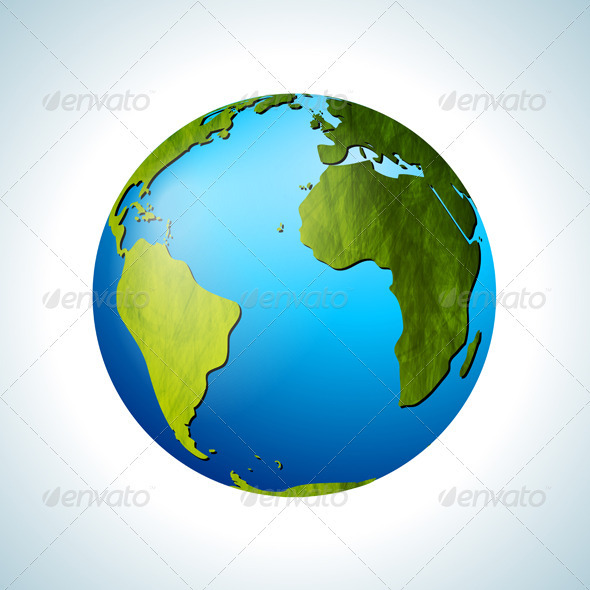 GraphicRiver Grunge Vector Globe 3887878