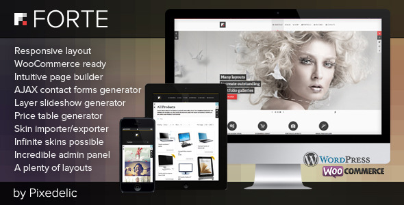 Forte multipurpose WP theme (eCommerce ready)