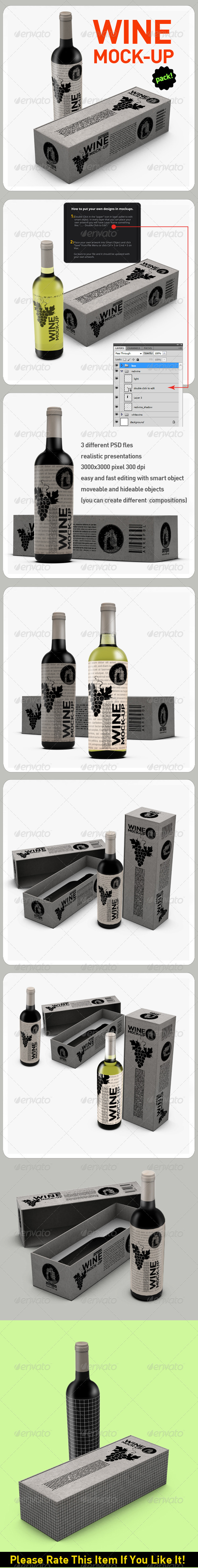 GraphicRiver Wine Mockup 3888984