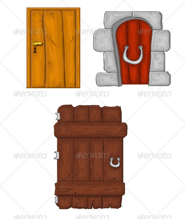 Cartoon Doors - Objects Vectors