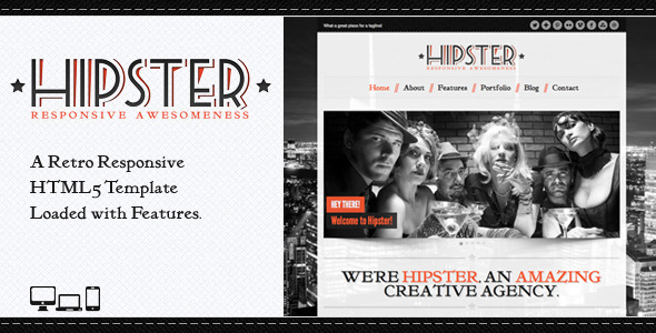 Hipster: Retro Responsive HTML5 Template - Portfolio Creative