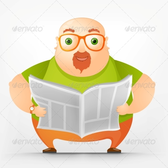 GraphicRiver Cheerful Chubby Man 3889438