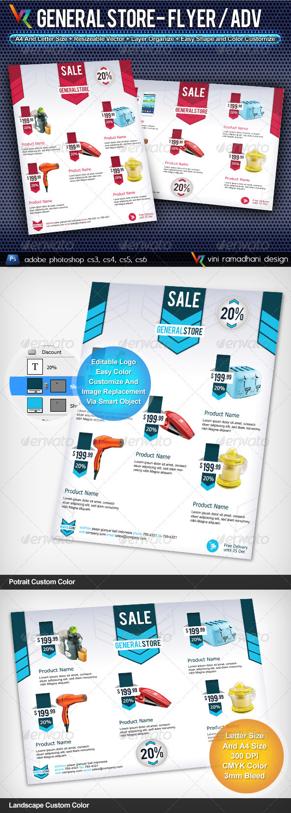 GraphicRiver General Store Flyer Or Advertising 3804295