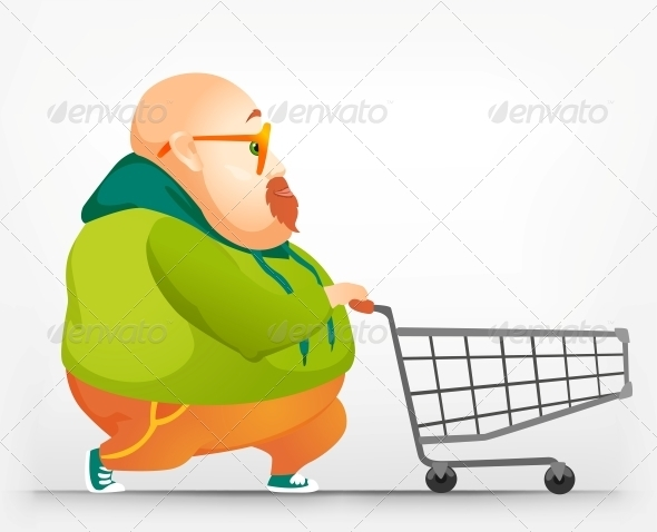 GraphicRiver Cheerful Chubby Man 3890484
