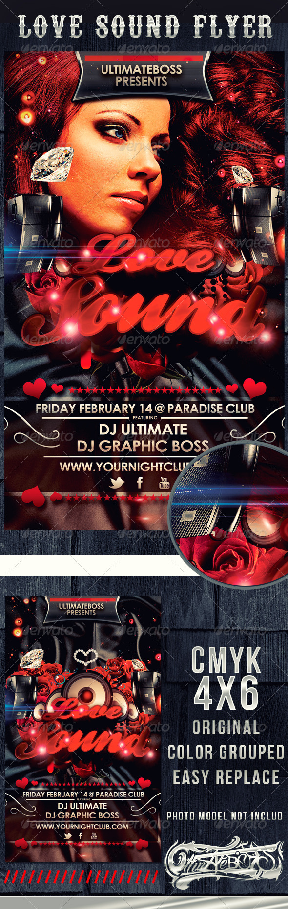 GraphicRiver Love Sound Flyer 3805820